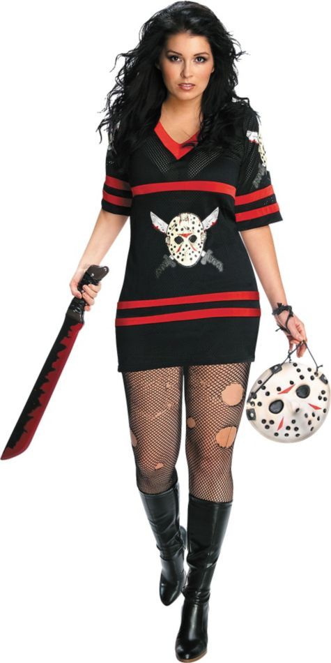 diy halloween adult plus size miss voorhees costume party city