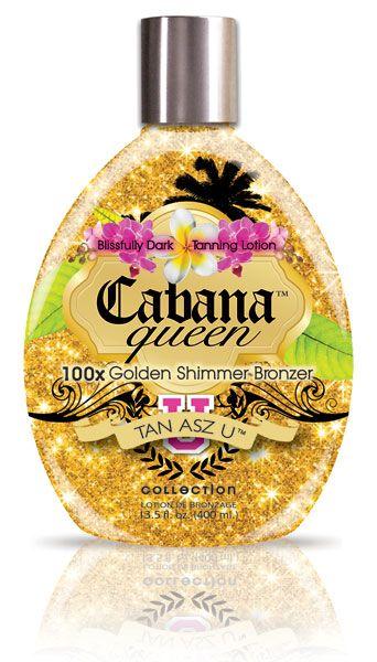 Cabana Queen golden shimmer bronzer tanning lotion ...