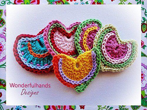 Crochet Hearts Pattern Valentines Day Crochet Crafts Crochet