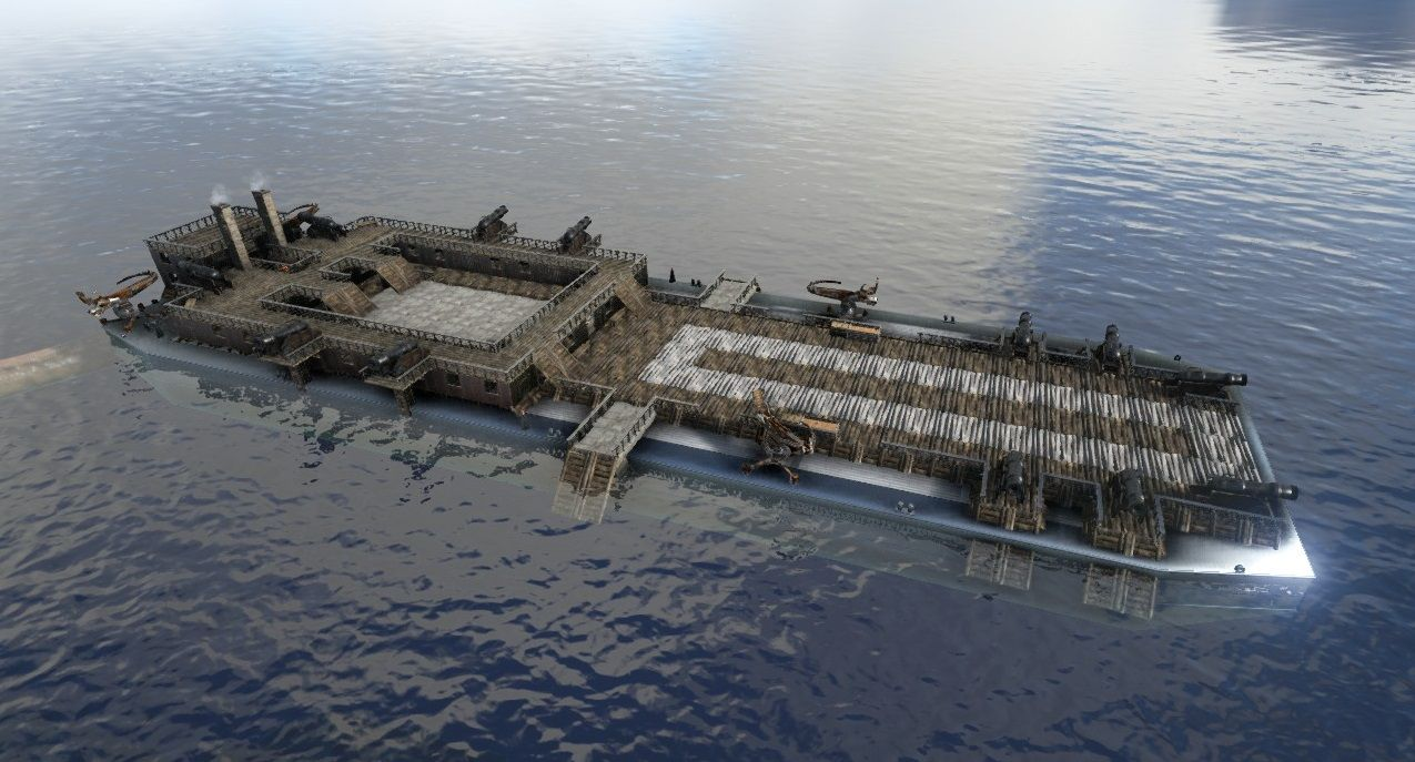 Aircraft Carrier & Mobile Base by domburrows 95! | Ark Survival