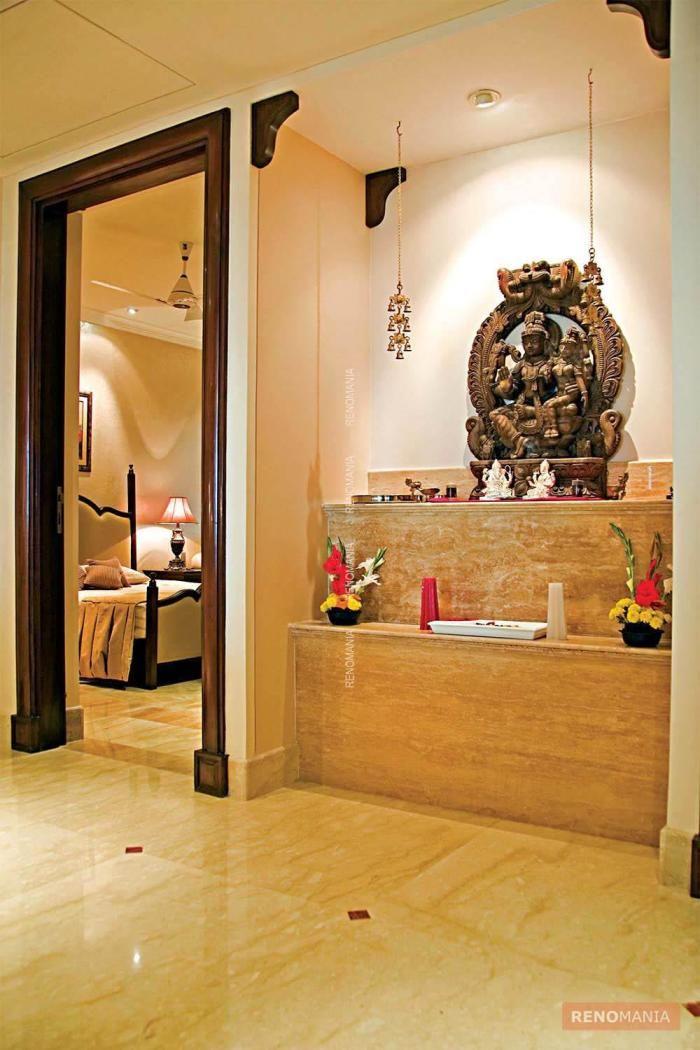 Modern Wall Home Mandir Designs - valoblogi.com