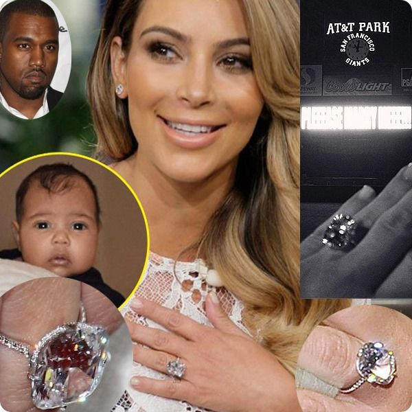 Ordinaire Kim Kardashian Engagement Ring To Kanye West 30