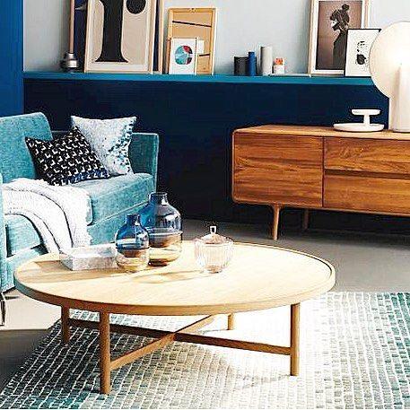 Living Berlin Möbel braun blau farbspiel trend yes nterieur berlin möbel