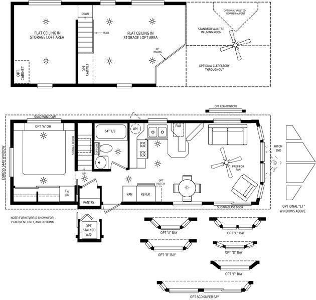 Cl 9027lt Cavco Park Models Park Model Homes House Floor Plans Park Models