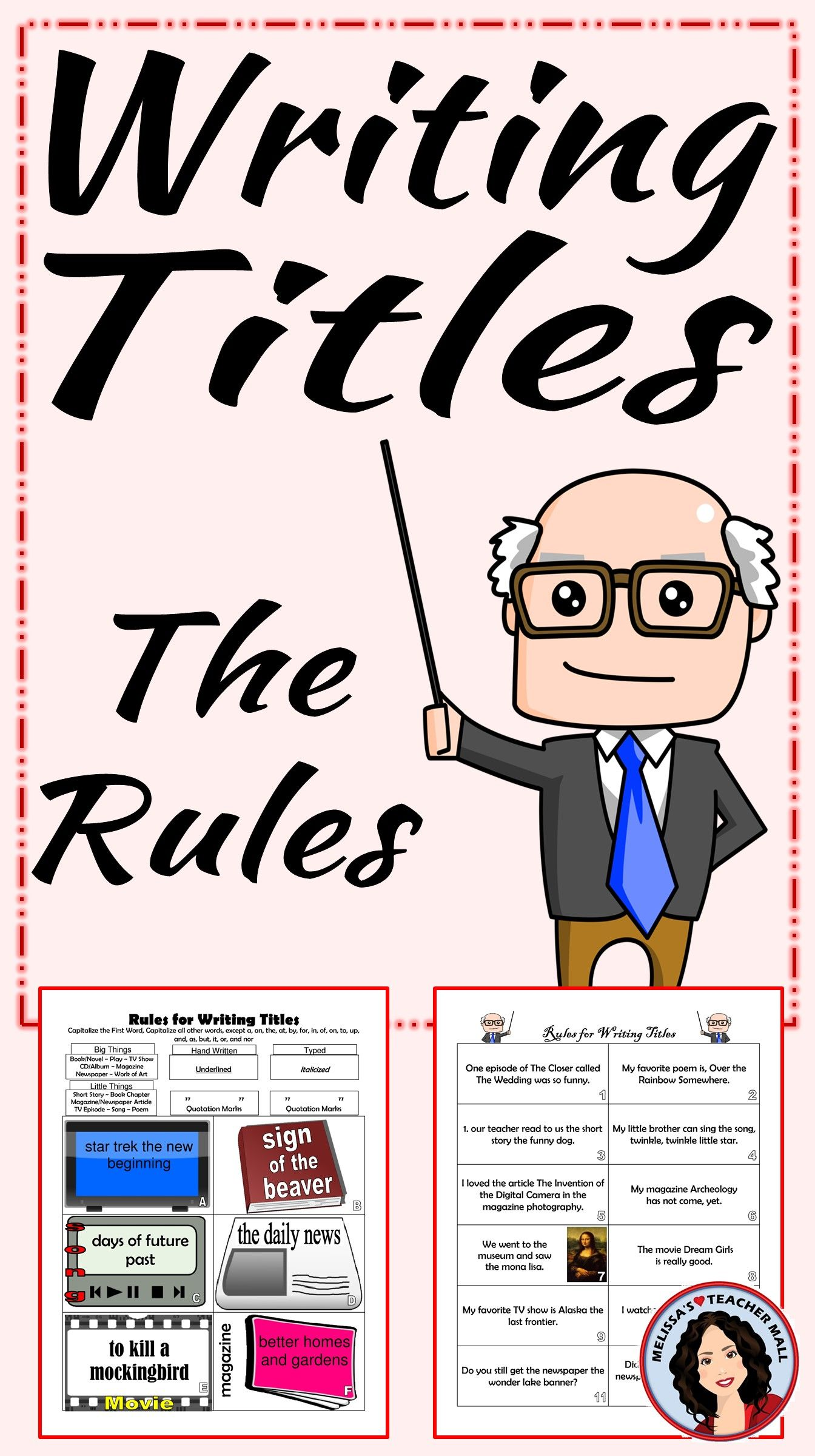 How To Write Titles Rules For Capitalization Underlining