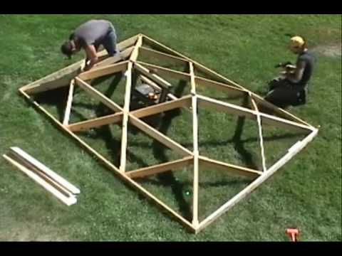 how to build a hip roof video