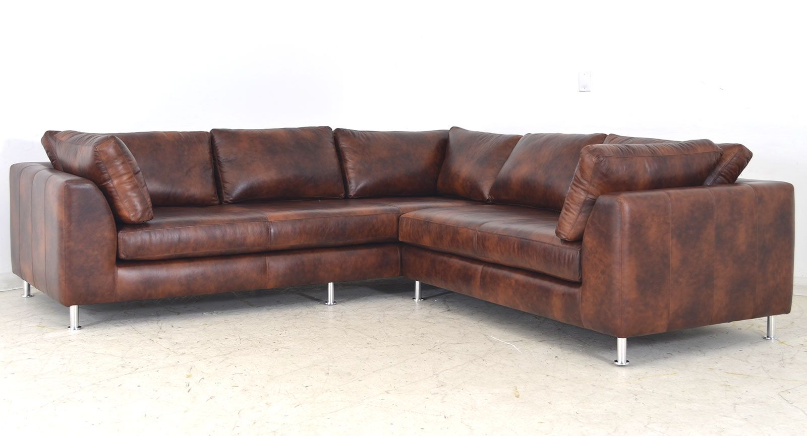 Usa Made The Arcadia Leather Sofa Vintage Furniture In Manufacturing