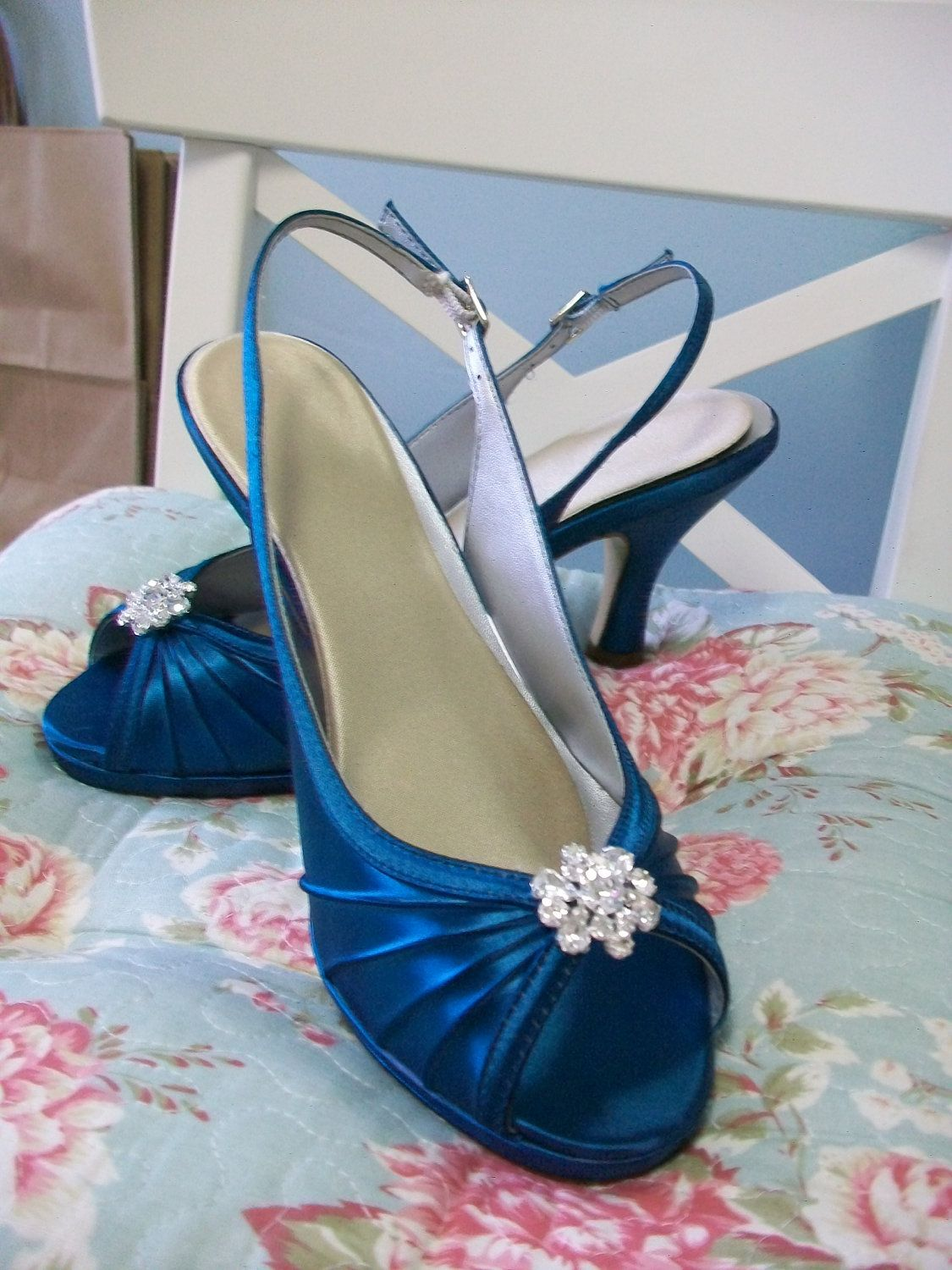 Blue wedding shoes sandals cobalt blue shoes wedding bridal bride