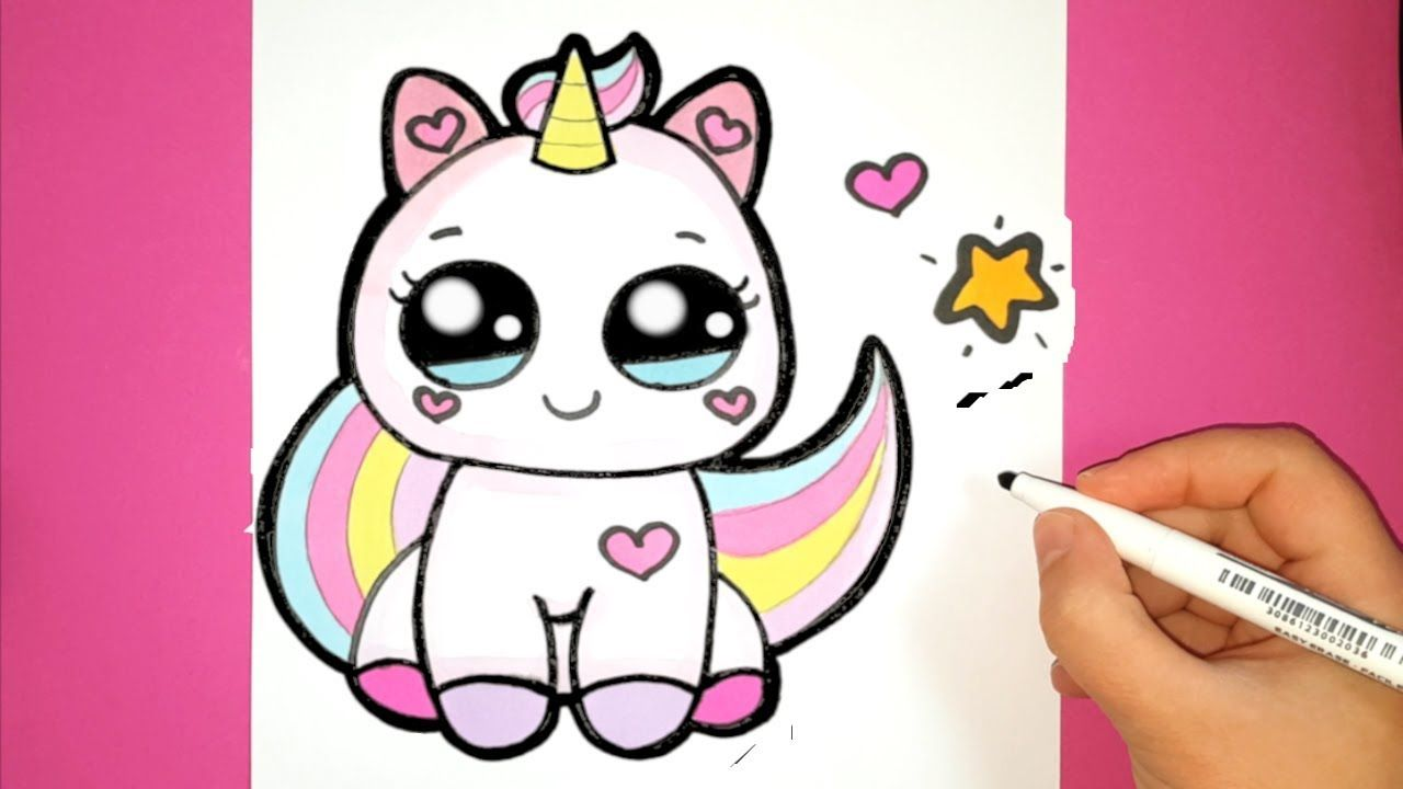 How To Draw A Cute Baby Unicorn Super Easy Happy Drawings Youtube Happy Drawing Baby Unicorn Unicorn Drawing