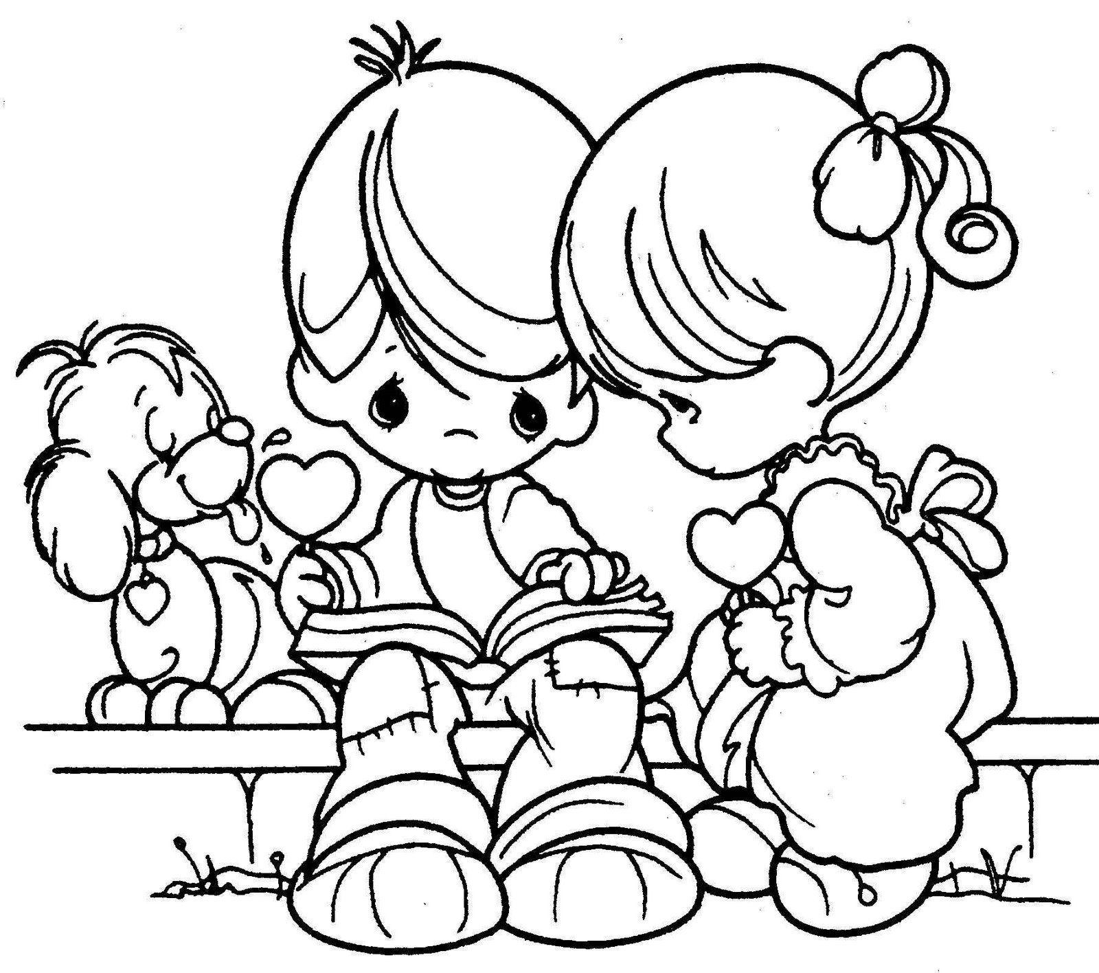 Dibujos de ni os para colorear mmanualidades pinterest - Ninos en clase dibujo ...