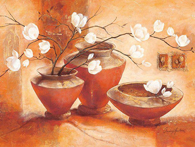 Eurographics Leinwandbild, Giulietta, Stillleben, Vase mit Blumen