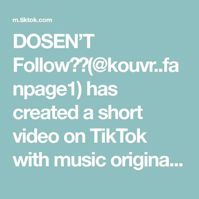 Dosen T Follow Kouvr Fanpage1 Has Created A Short Video On Tiktok With Music Original Sound Who Is Your Sibling Foryo Singing Videos Lip Sync Music