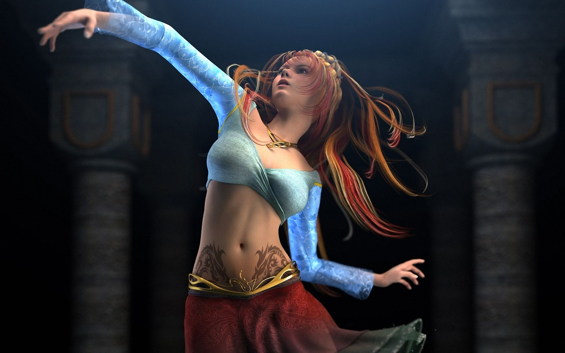 Girl 3d Hd Wallpapers And Widescreen For Windows 8 Girl Dancing Women Dance Wallpaper