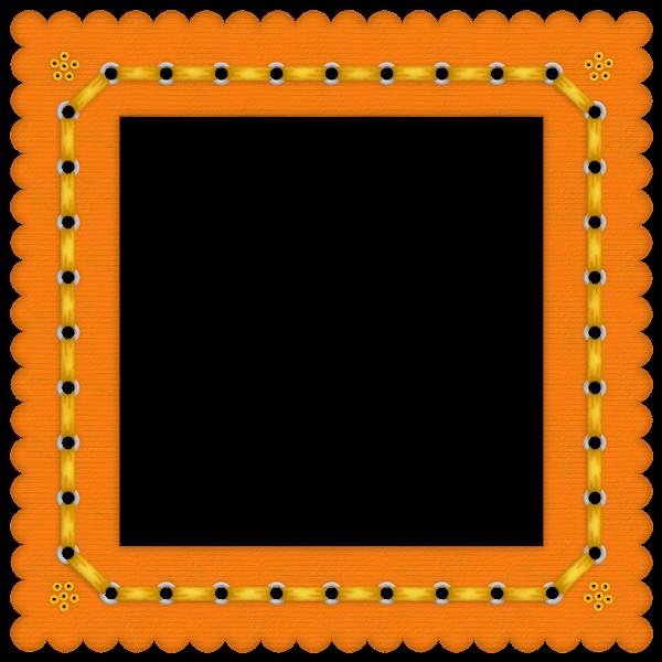 orange fram png | Orange Summer Colored Transparent Frame ...