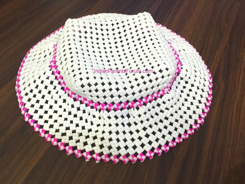 Woven hat - plastic wire - how to weave a hat DIY - step by step ...