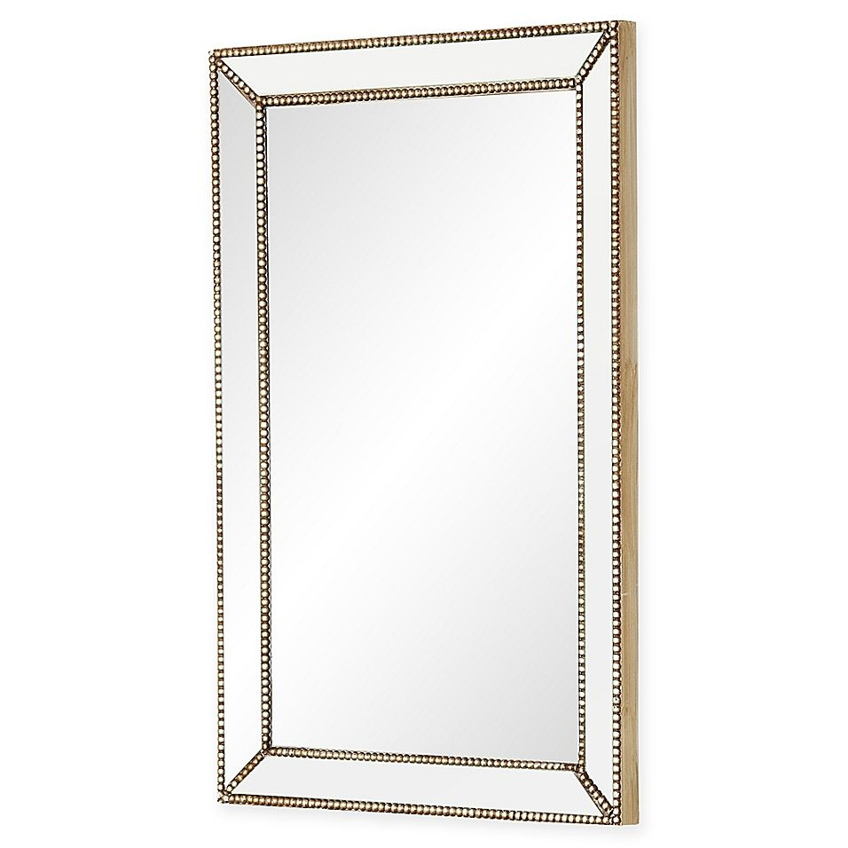 Abbyson Living Cosmo Rectangular Wall Mirror In Silver Gold Gold