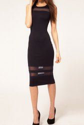 Stylish Scoop Neck Sleeveless Backless Slimming Women's Dress