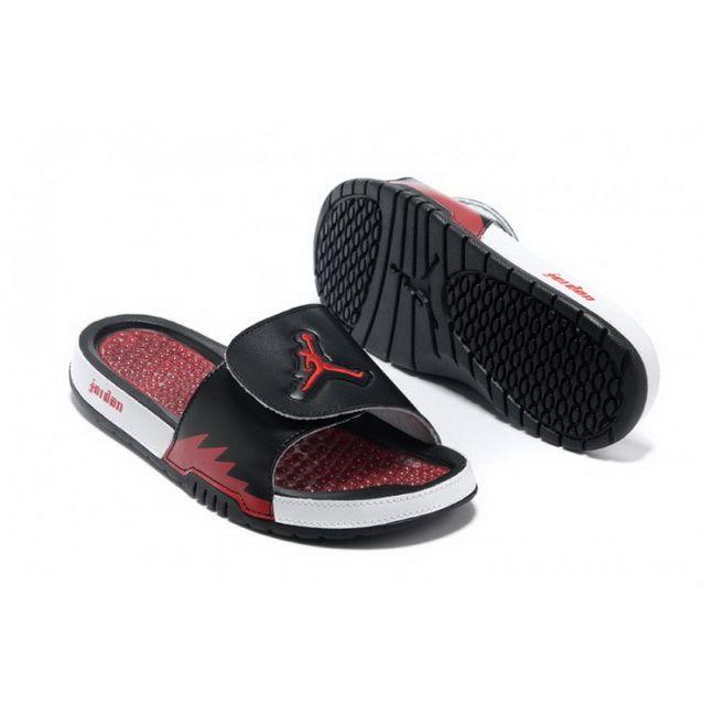 Mens Nike Jordan Hydro 5 Slippers Black Red White