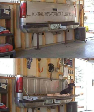 comoda banca para el garaje.