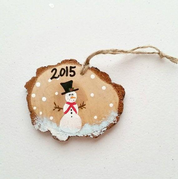 Christmas craft 3 diy wood slice ornaments christmas for Wood slice craft ideas