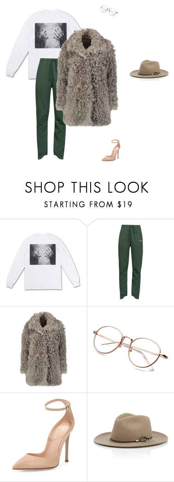 """""""Untitled #634"""" by da-rk-en-ed ❤ liked on Polyvore featuring Polaroid, Vetements, Iris & Ink, Gianvito Rossi and rag & bone"""
