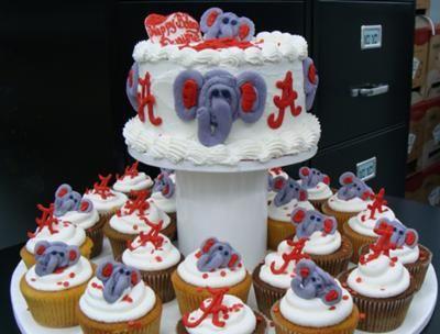 Crimson Tide Cake I made these for a Alabama football fan I made