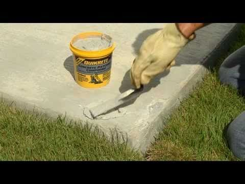 How To Make Thin Repairs To Damaged Concrete With Quikrete Concrete Fast Setting Concrete Repair