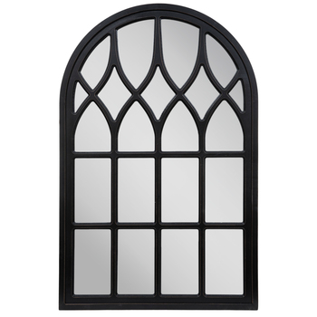 Black Cathedral Arch Wood Wall Mirror Hobby Lobby 1664366 In 2021 Arched Window Mirror Window Mirror Wood Wall Mirror