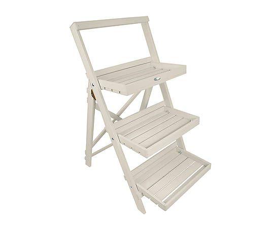 Scaletta portavasi in legno bianca 73x91x47 cm sogni for Portavasi a scaletta