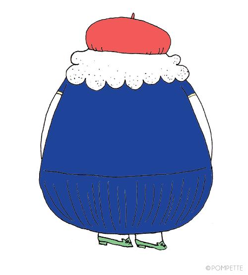 ♡Emilie, illustration by POMPETTE