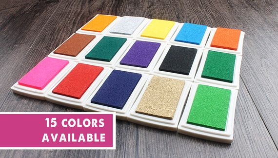 BUJO Supplies & Accessories: Colorful Inkpad, Multi- Color Craft Inkpad, Stamp Pad, Clear Stamp