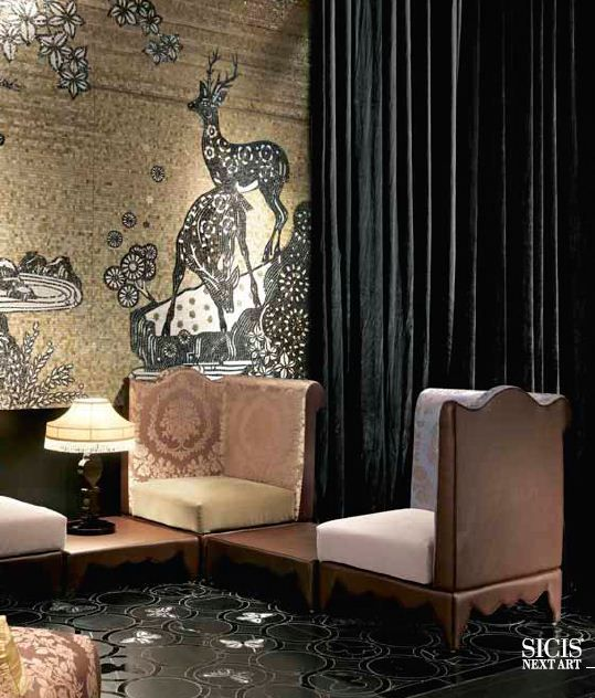 Sicis mosaic furniture interiors art tile
