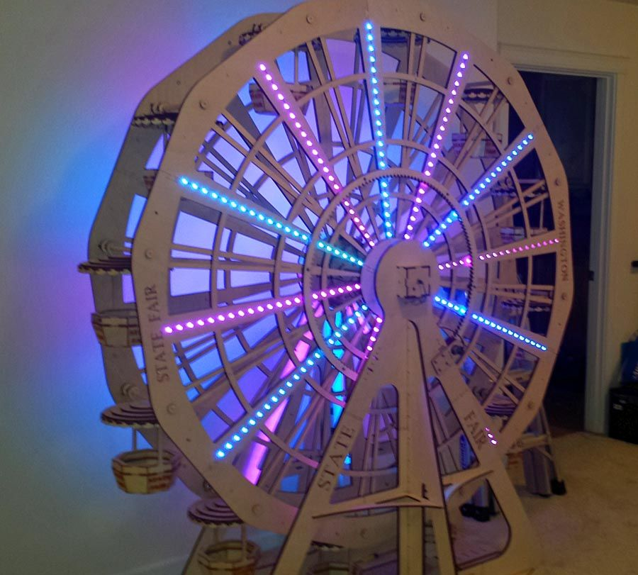 How To Make A Moving Ferris Wheel Model Google Search