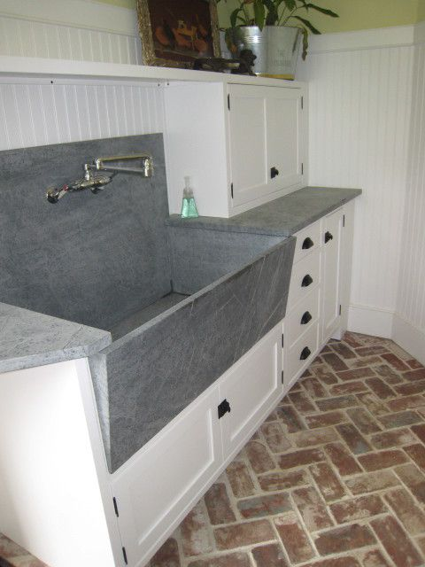 Dog Wash Sink Laundry Room Eclectic With Soapstone