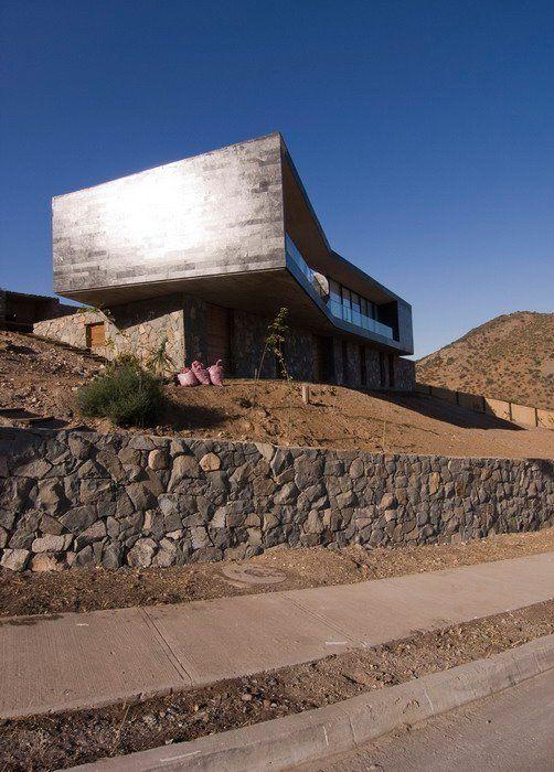 solar en pendiente #desnivel #muros piedra #terrazas diseño