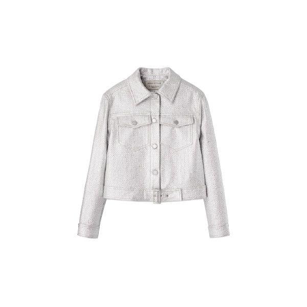 ブルゾン ❤ liked on Polyvore featuring outerwear, jackets and maison kitsuné