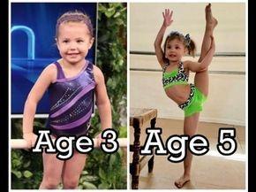 Emma's Gymnastics Evolution (Age 2 to 5) - YouTube | Gymnast