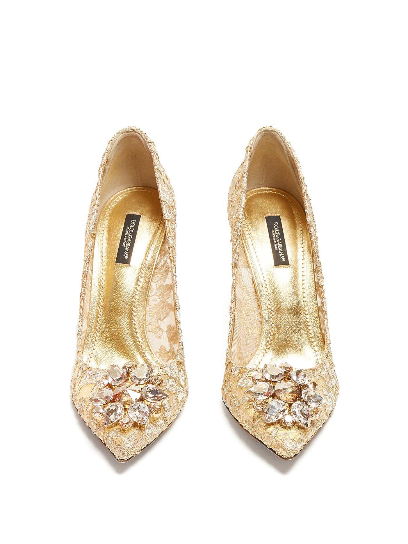 343254c6deb1 Bellucci crystal-embellished lace pumps