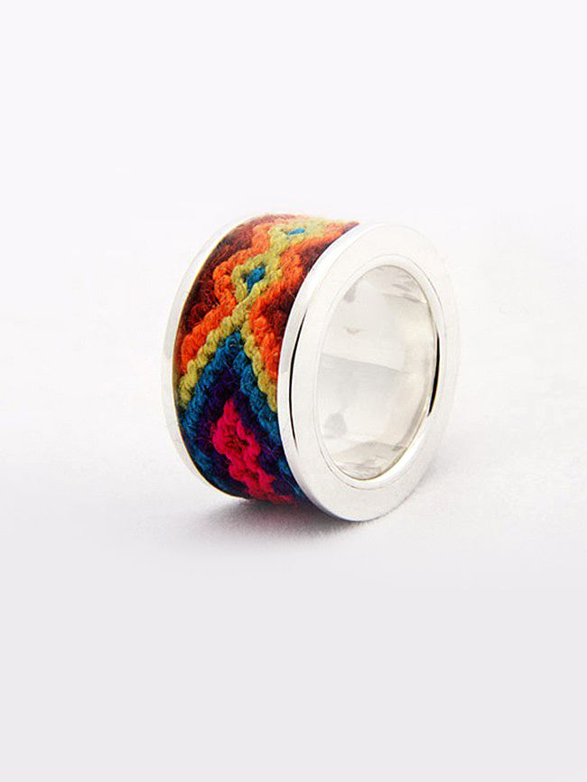 Silver Wayuu Band Ring via http://flechada.com/