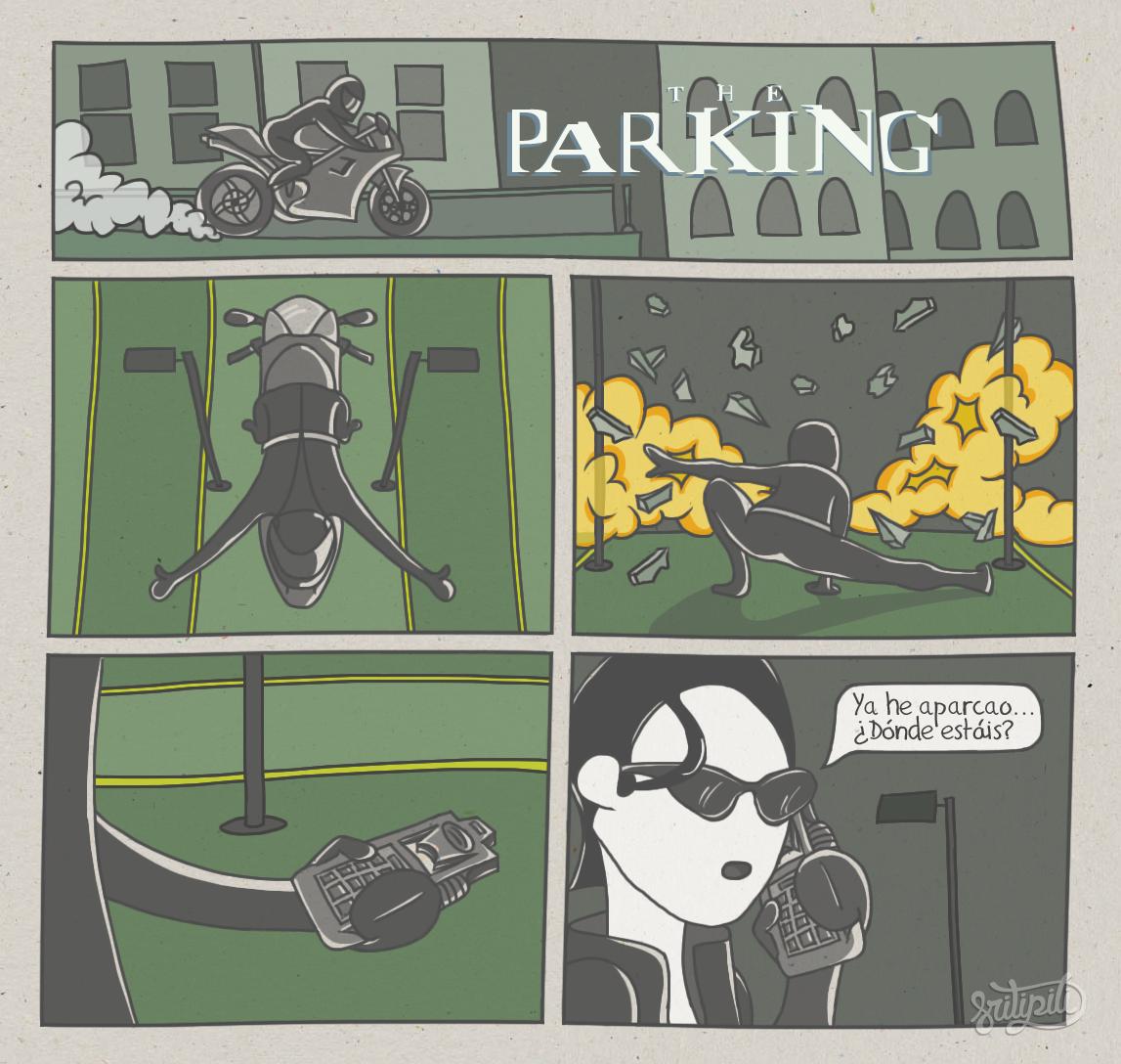 Trinity aparcando