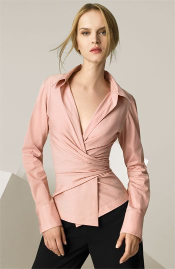 00ea3f6ee Pin by Mohammed moten on Ladies shirts in 2019 | Wrap shirt, Fashion, Wrap  blouse