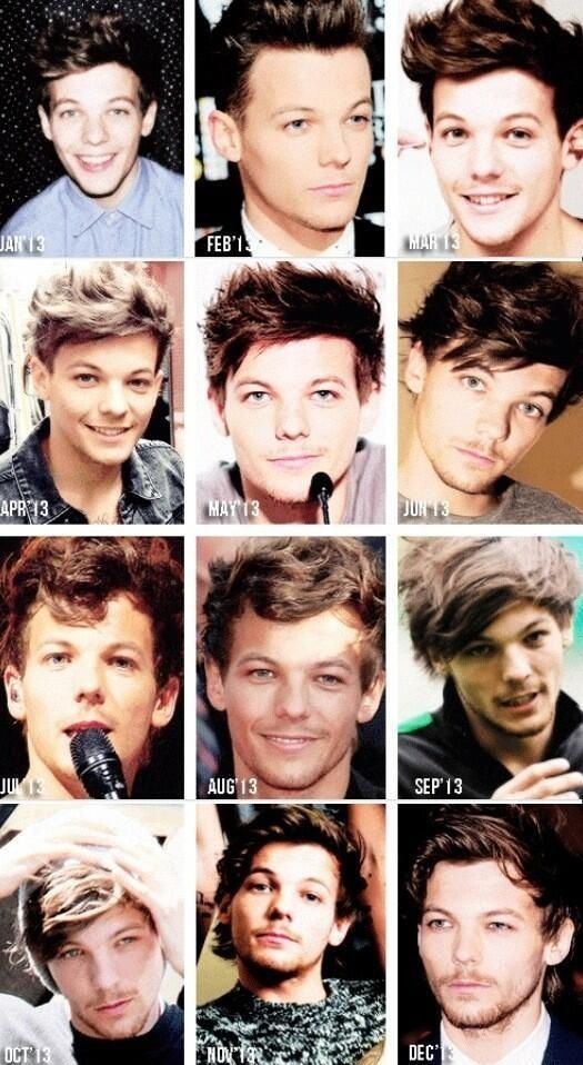 hair style changed every month one direction ��