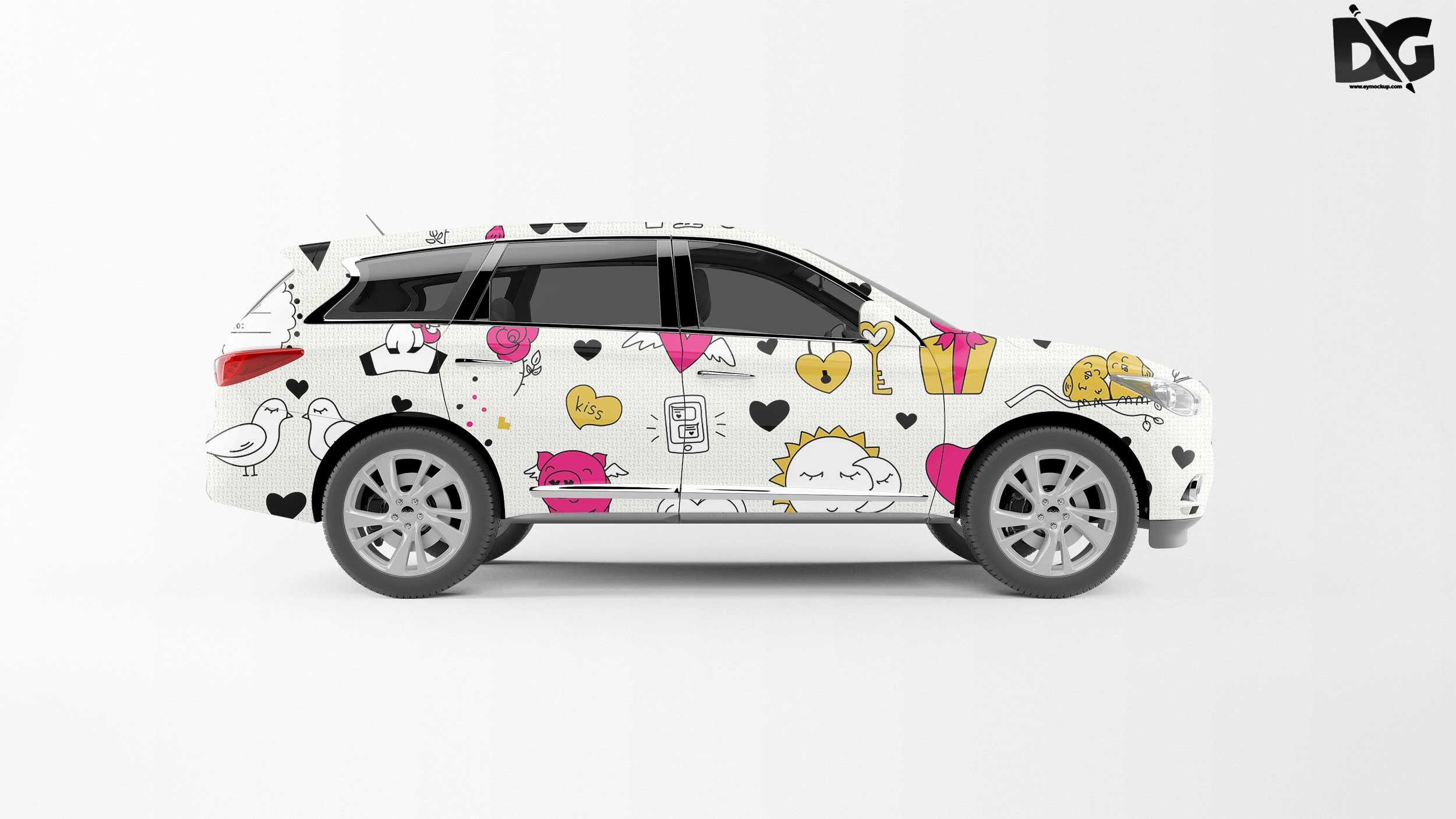 Free Innova Car Wrap Mockup Design mockup free, Free