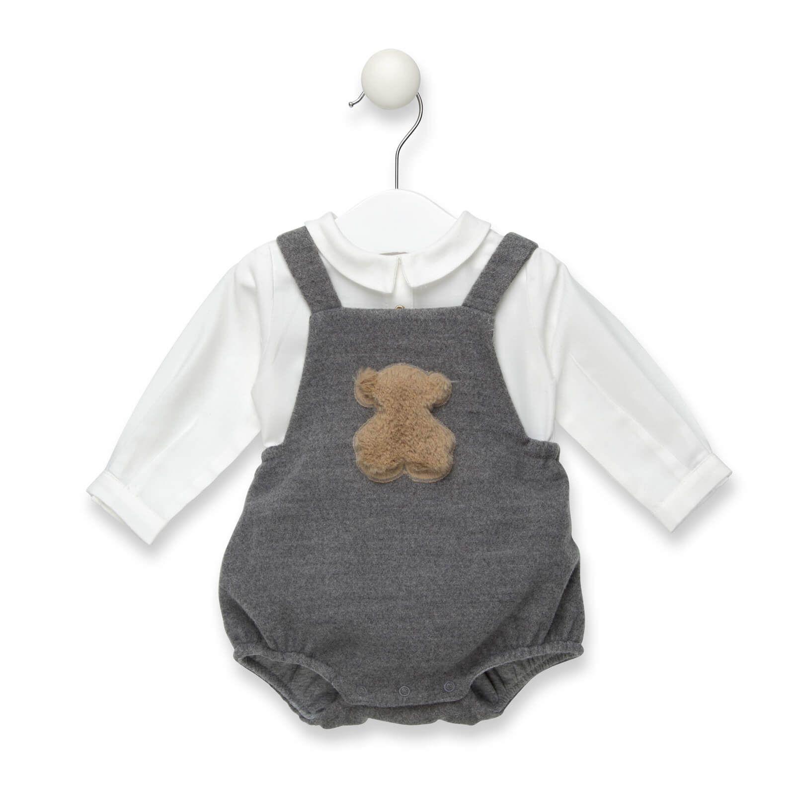 3c0109529 Peto de paño con camisa de la colección Lux de Baby Tous. De color gris