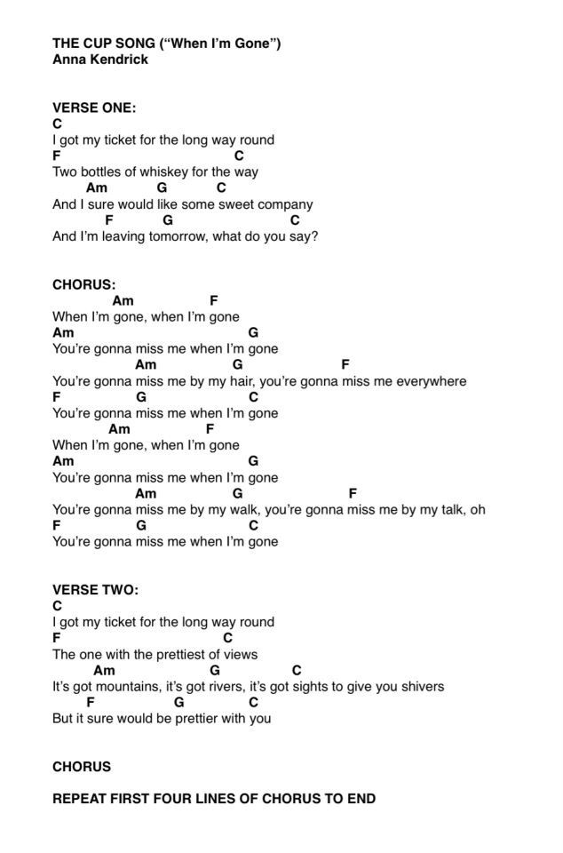 When I\'m gone chords | Ukulele | Pinterest | Guitars, Free sheet ...