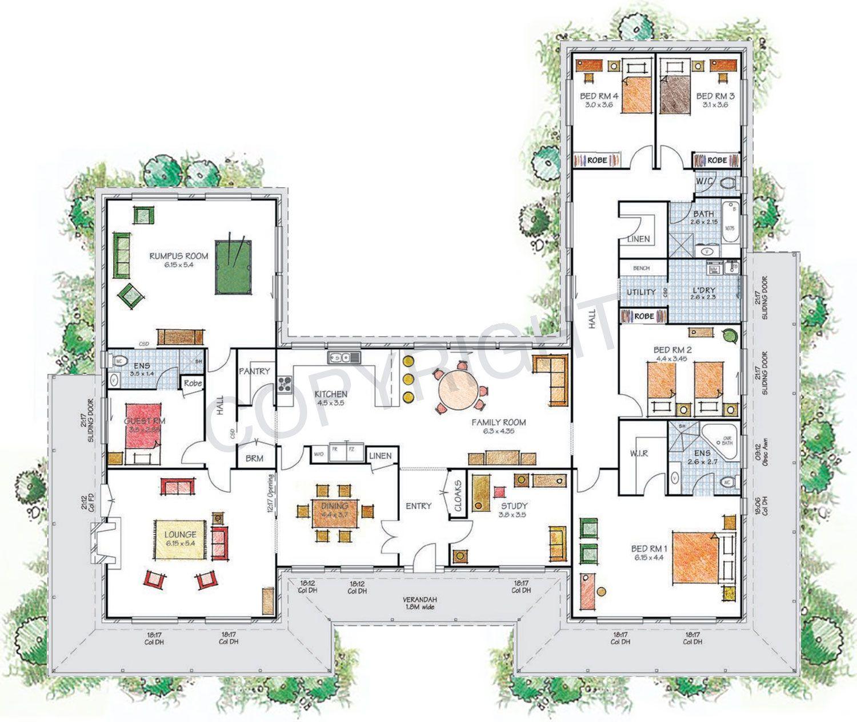 Floor Plan Friday U shaped home