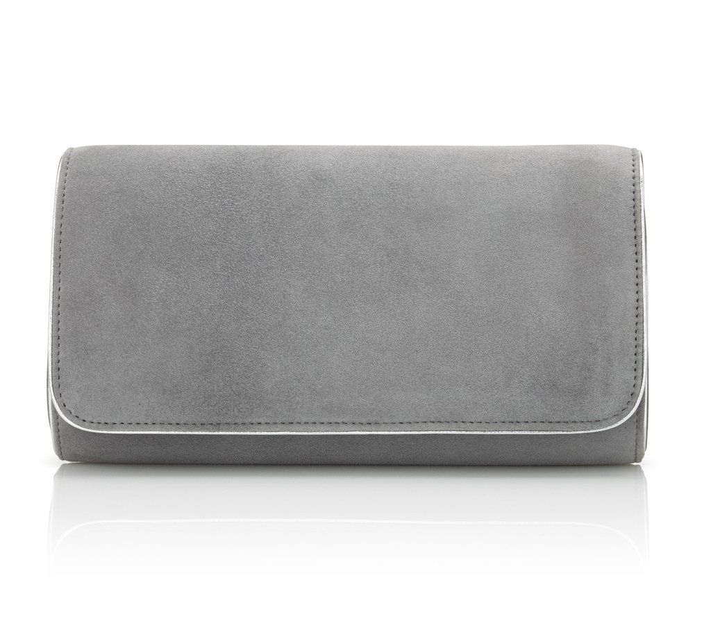 8e5645d2f23b Natasha Steel Grey Clutch Bag by Emmy London