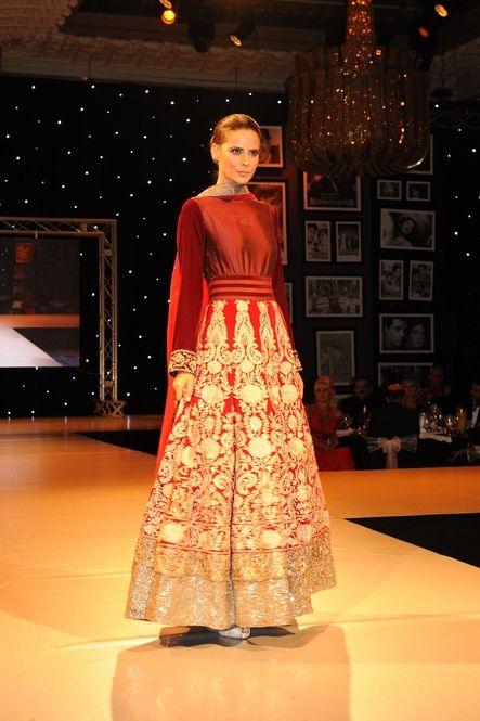 Long dress high neck indian