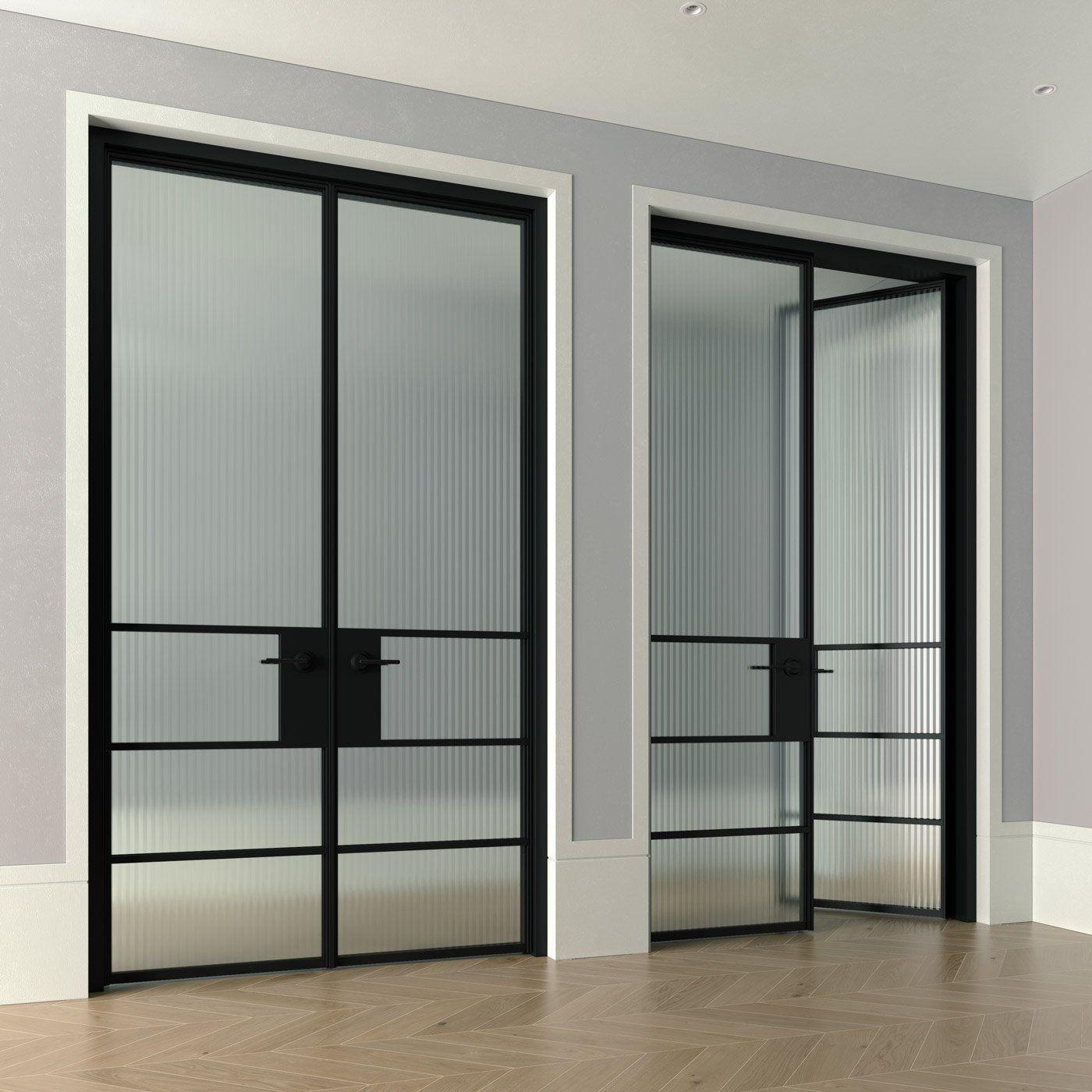 Zen Doors Modern Iron Entry Pivot Hinge Doors Steel Glass Doors In 2020 Glass Door Steel Front Door Steel Door Design