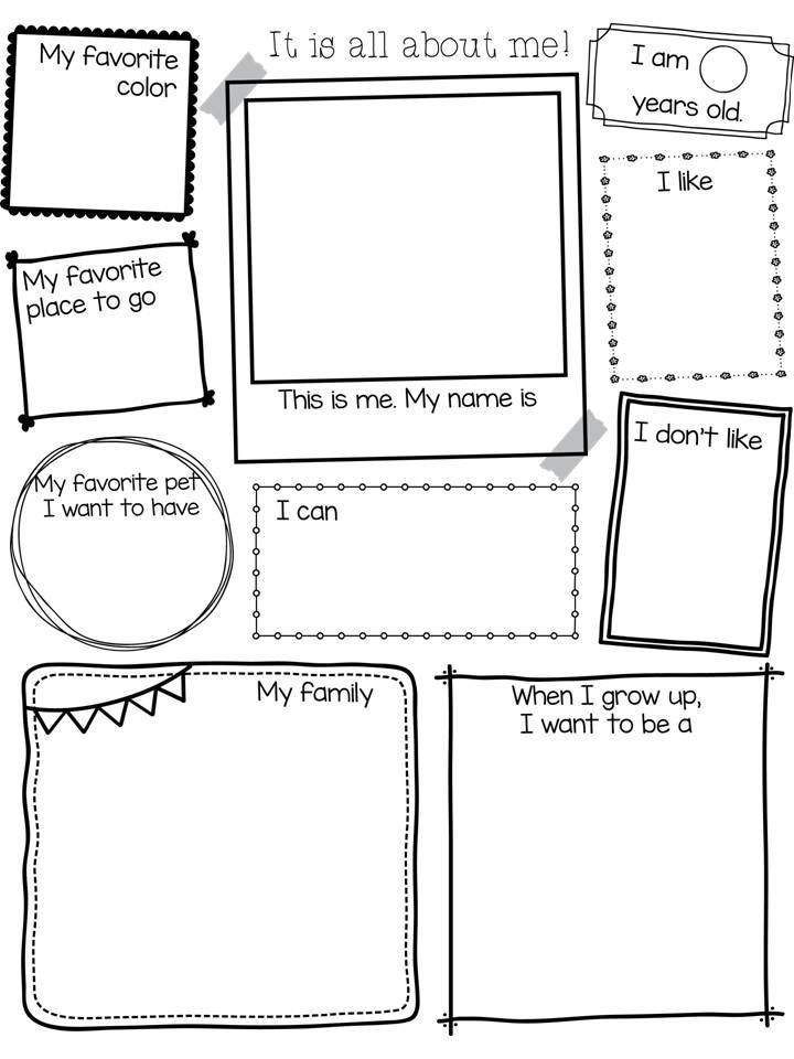 All about me / Self-introduction / First day of school